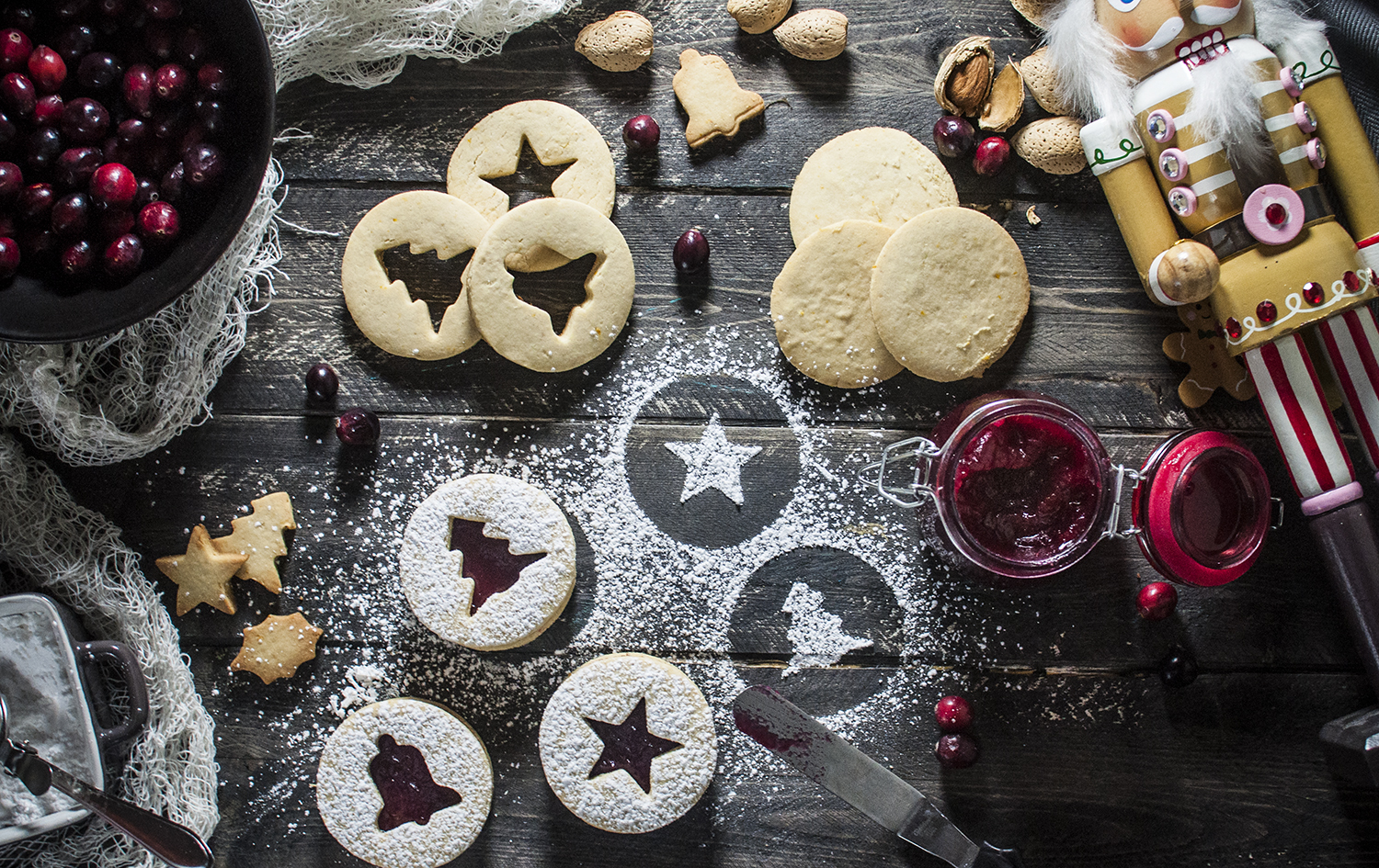 Cranberry Linzer Cookies Recipe — Dishmaps