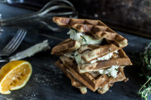 Paleo Lemon Thyme Waffles